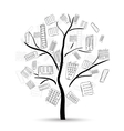 Tree with houses vector image