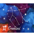 Zodiac sign on watercolor abstract galaxy vector image