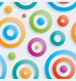 colorful circles walpaper vector image