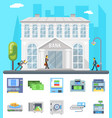 bank building administrative commercial house vector image vector image