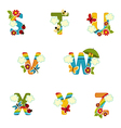 alphabet rainbow from S to Z vector image