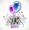 new year balloons 2015 vector image