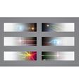 Set of six dark banners vector image vector image