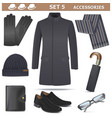 Male Accessories Set 5 vector image