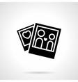 Love relationship concept black icon vector image