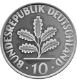 german money silver coin vector image