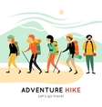 Adventure Hike Of Happy Friends vector image