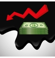 Flat about Oil price petroleum and vector image