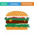 Flat design icon of Hamburger vector image