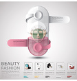 Pill Capsule Woman Beauty And Fashion Lifestyle vector image