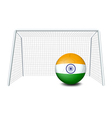 A soccer ball with the flag of India vector image