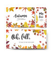 floral watercolor style card design autumn season vector image