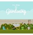 Gardening Flat Background vector image