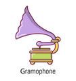 gramophone icon cartoon style vector image