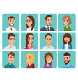 Men and women business and casual clothes icons vector image