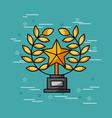trophy star movies art vector image
