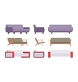 Set of sofas vector image