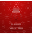 Merry christmas background with glass fir tree vector image