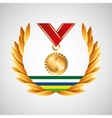 medal win olympic games emblem vector image