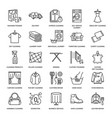 dry cleaning laundry line icons launderette vector image