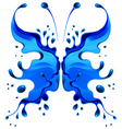Blue butterfly blot vector image vector image
