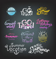 different summer travel gradient lettering labels vector image vector image