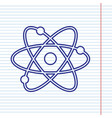 atom sign   navy line icon on vector image