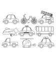 Different kinds of transportations vector image vector image