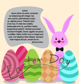 easter day for card vector image
