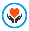 Charity Rounded Icon vector image