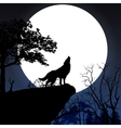 Howling to the full moon vector image