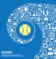 baseball icon Nice set of beautiful icons twisted vector image