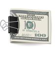 Folding dollars vector image vector image