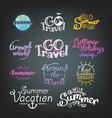 different summer travel gradient lettering labels vector image