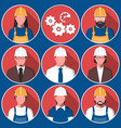 flat avatars of engineering workers vector image