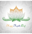 Happy Republic day of India vector image