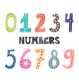 Numbers set Collection of cute colorful numbers vector image