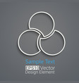 rounds logo design vector image