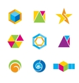 Set of geometrical logos vector image