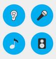 set of simple sound icons elements listen speaker vector image
