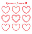set of twisted framework in heart shape vector image