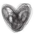 Srce sarano bw vector image