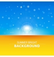 Sun rays sunbeams background vector image