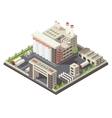 Factory Territory Isometric vector image