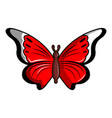 cethosia biblis butterfly icon cartoon style vector image vector image