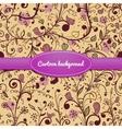 Floral vintage seamless pattern vector image
