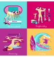 Athletics and Bodybuilding Swimming Surfing vector image
