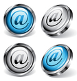 e-mail web buttons vector image
