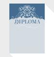 diploma blue grey vector image vector image