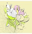 beautiful flower vector image